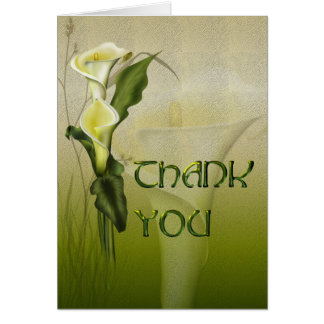 Carte Merci blanc de suite de mariage de calla