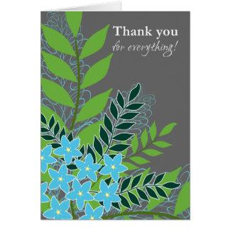 Carte Merci bleu de myosotis des marais de jolis fleurs