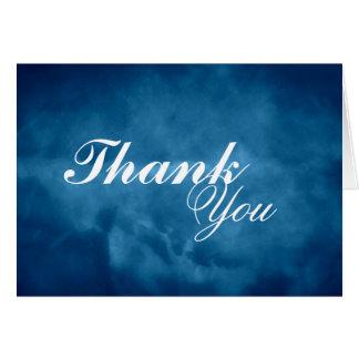 Carte Merci bleu profond
