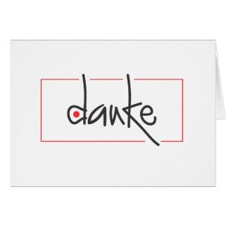 Carte Merci d'affaires de Danke dans toute langue