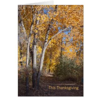 Carte Merci d'affaires en bois d'automne