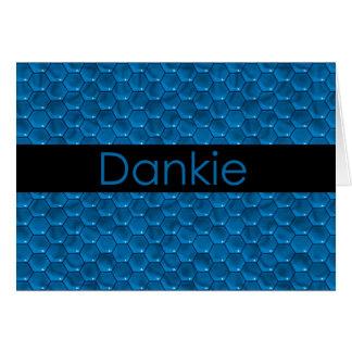 Carte Merci dans l'afrikaans Dankie
