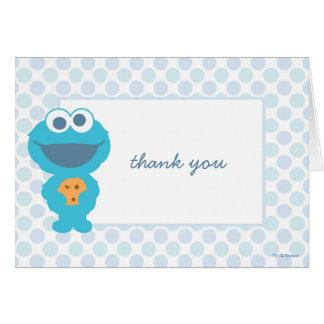 Carte Merci de baby shower de monstre de biscuit