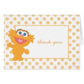 Carte Merci de baby shower de Zoe