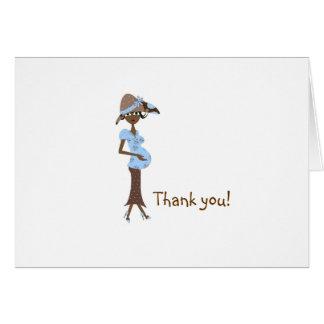 Carte Merci de baby shower - maman chic
