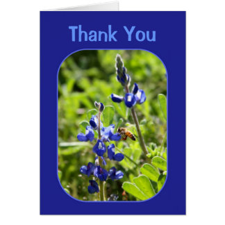 Carte Merci de Bluebonnets de Texas