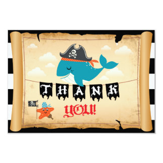 Carte Merci de capitaine Whale Starfish Matey de pirate