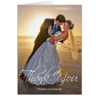 Carte Merci de coutume de photo de mariage