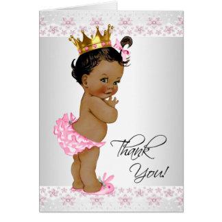 Carte Merci de douche de bébé d'Afro-américain