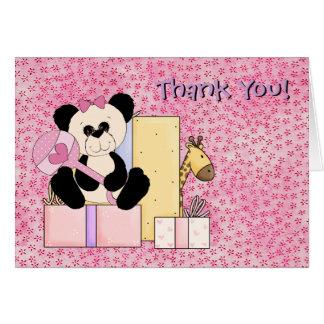 Carte Merci de douche de bébé d'ours de nounours de