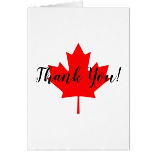 Carte Merci de feuille d'érable rouge