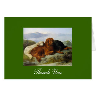 Carte Merci de golden retriever, d'Irlandais et de