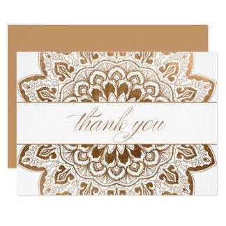 Carte Merci de mandala de médaillon d'or