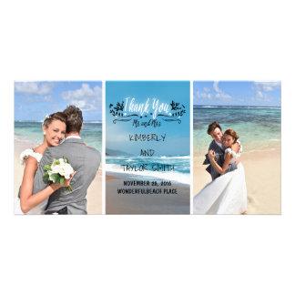 Carte Merci de mariage de plage