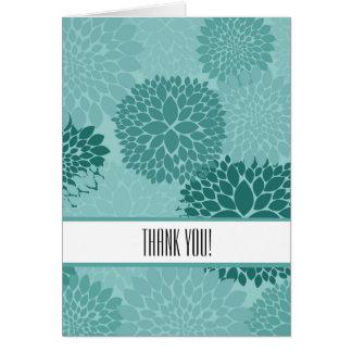 Carte Merci de menthe de fleurs