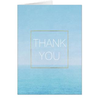 Carte Merci de plage d'océan de ciel bleu