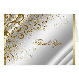 Carte Merci de remous d'ivoire élégant et d'or
