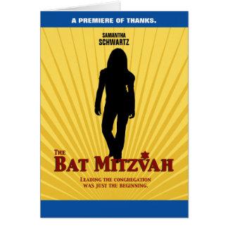 Carte Merci de star de cinéma de bat mitzvah