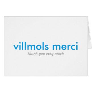 Carte Merci de Villmols Merci | beaucoup