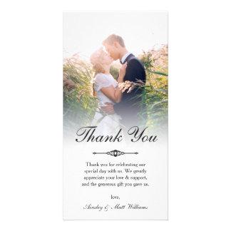 Carte Merci élégant de photo de mariage de recouvrement