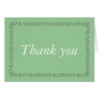 Carte Merci élégant vert de menthe de cadre