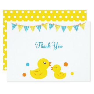 Carte Merci en caoutchouc de baby shower de canard