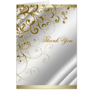 Carte Merci en ivoire élégant de remous d'or