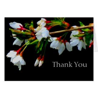 Carte Merci - fleur de pomme sauvage
