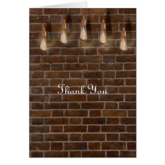 Carte Merci industriel d'ampoules vintages d'Edison