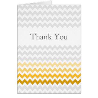 Carte Merci jaune et gris de chevron de mod d'Ombre