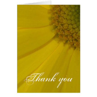 Carte Merci jaune inspiré de fleur