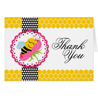Carte Merci lunatique de fleur de rose de baby shower