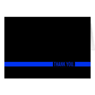 Carte Merci mince de Blue Line de policier