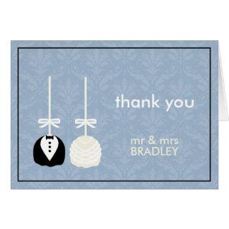 Carte Merci moderne de mariage de Cakepop de l'amour le