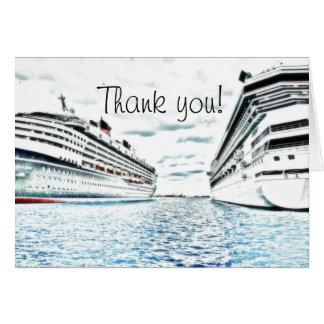Carte Merci nautique des vacances | de croisière