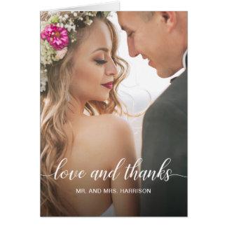Carte Merci personnalisé de photo de portrait de mariage