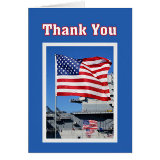 Carte Merci pour des drapeaux de service militaire