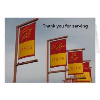 Carte Merci pour servir