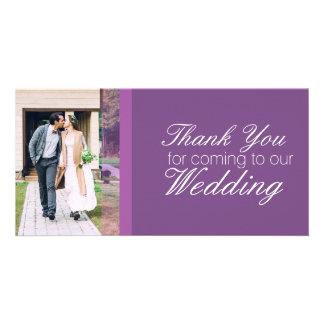 Carte Merci pour venir à notre mariage personnalisé