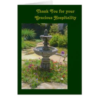 Carte Merci pour votre modèle aimable d'hospitalité