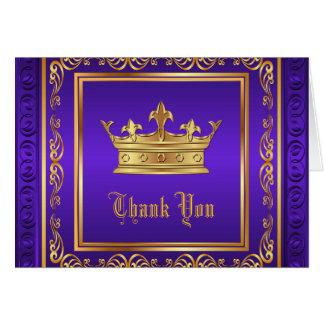 Carte Merci pourpre de couronne d'or
