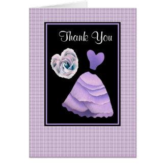 Carte Merci POURPRE LILAS - douche nuptiale