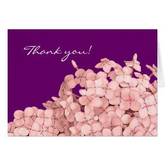 Carte Merci rose d'hortensia