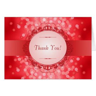 Carte Merci rouge d'anniversaire de rouge quarantième