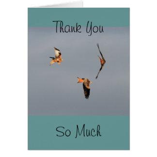 Carte Merci rouge de cerf-volant
