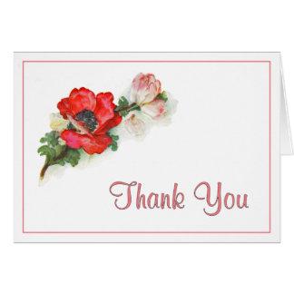 Carte Merci rouge de pavot