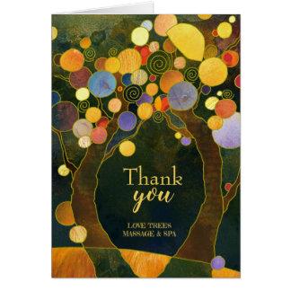 Carte Merci rustique d'affaires d'arbres d'amour