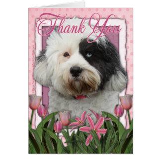 Carte Merci - Terrier tibétain