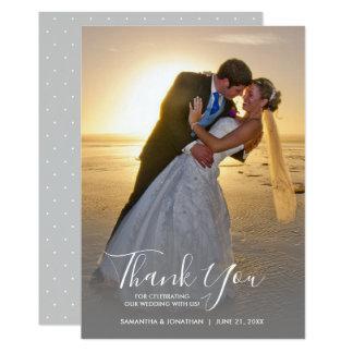 Carte Merci vertical de mariage de photo d'écriture