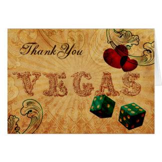 Carte Merci vintage de Vegas de matrices de vert vert